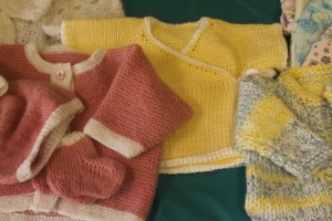 Tiny sweaters for sale in our gift shop.