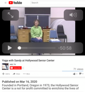 Yoga video on HSC YouTube Channel